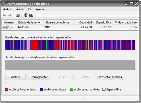 Mantenimiento informático Madrid – Desfragmentación del disco duro: ¿Qué es?