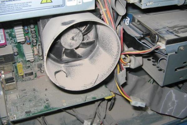El polvo y el mantenimiento informático
